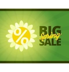 Big spring sale banner vector