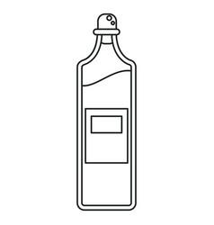 Bottle juice fresh healthy outline vector