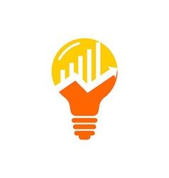 Business lamp symbol finance logo vector