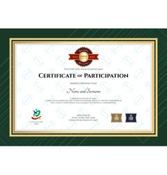 Certificate Of Participation Template In Sport The Vector Image Vector Image  Certificate Of Participation Template