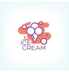 Colorful ice cream logo design concept vector