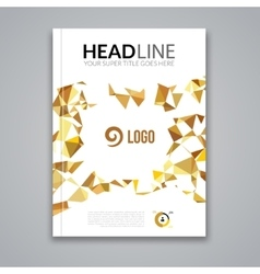 Cover report colorful gold triangle geometric vector