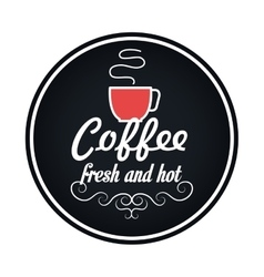 Delicious coffee drink menu icon vector