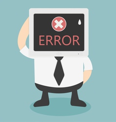 error message on computer vector image