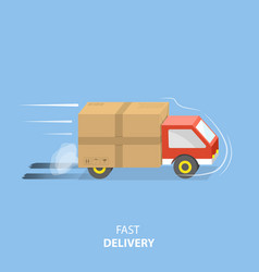 Fast delivery service flat vector