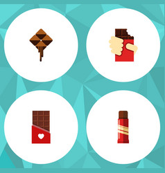 Flat icon sweet set of chocolate delicious sweet vector