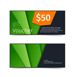 Gift voucher shopping sale promotional flyer vector