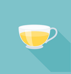 glass cup of tea icon vector image vector image