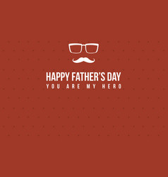 Happy father day greeting card collection vector