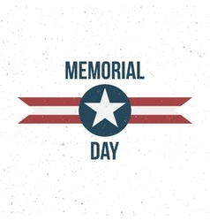 Memorial day label with text vector