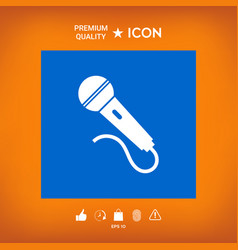 Microphone symbol icon vector