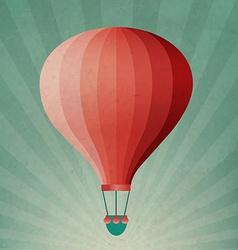Retro Air Balloon vector image vector image