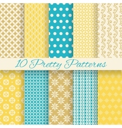 Retro different seamless patterns vector image vector image