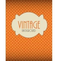 Retro Vintage Background Template vector image