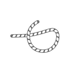 rope knot isolated icon vector image