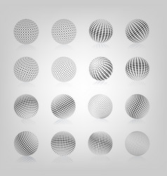 Sphere with halftone fill vector