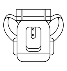 Tourist backpack with mat icon outline style vector