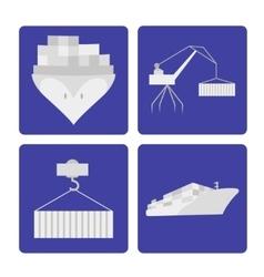 Transport logistics set vector