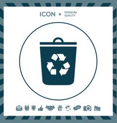 Trash can recycle bin icon vector