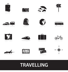 Travelling icons eps10 vector