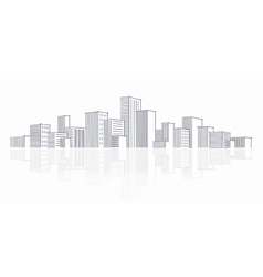 The sketch of a city skyline vector