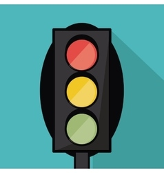Semaphore trafficlight sign design vector