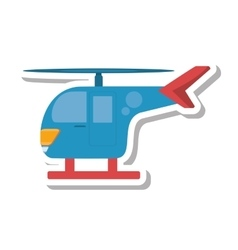 Helicopter transport isolated icon vector