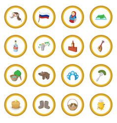 russia cartoon icon circle vector image