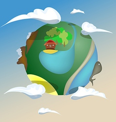 Puppet planet earth vector
