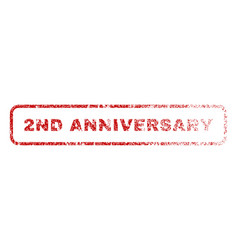 2nd anniversary rubber stamp vector image