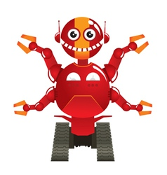 Red robot vector