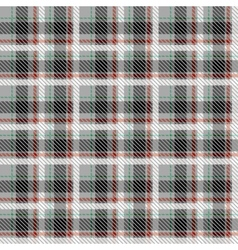 Black and white seamless tartan with thin red and vector