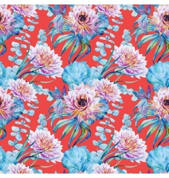 Nice floral watercolor seamless pattern vector