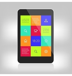 Ui colorful design for mobile devices vector