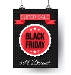 Black friday super sale flyer vector