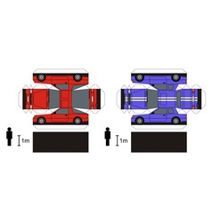 Paper models of sports cars vector