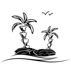 island sketch vector image