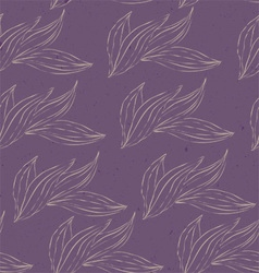 leaves white purple ink vector image