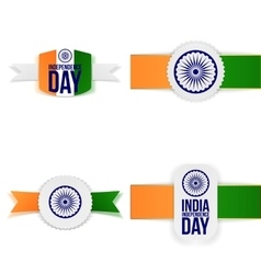 India independence day paper labels set vector