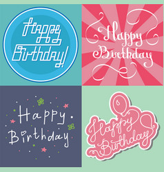 beautiful birthday invitation card design colorful vector image