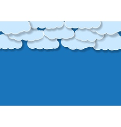 blue background with clouds vector image vector image