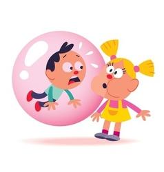 Bubble gum kids vector