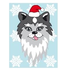 Christmas husky Use for vector image vector image