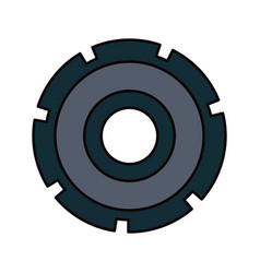 Color sketch silhouette gear wheel icon vector