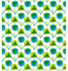 Colorful seamless pattern with green and blue dots vector image