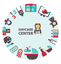 Daycare center emblem vector image