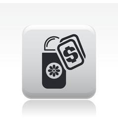 Deodorant price icon vector