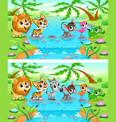 Difference Jungle vector image vector image
