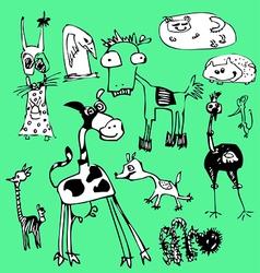 Fancy animals vector