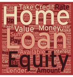 Home equity loan text background wordcloud concept vector